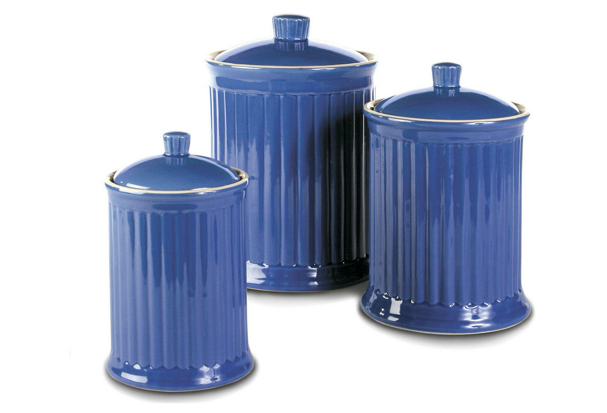 3 pc canister set blue kitchen from one kings lane epic andrew james 3pc tea coffee sugar canister set vintage