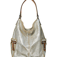 Tano Metallic Bag Check Diva Hobo