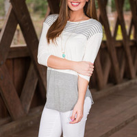 Rock The Boat Top, Heather Gray