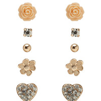 Spring Garden 6 Pair Earring Set