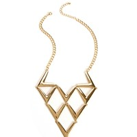 Gold V-Statement Necklace