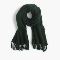BRUSHED ITALIAN WOOL SCARF IN SOLID