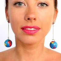 World on a Stick! Earrings