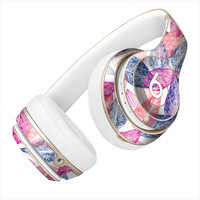 Hand Drawn Purple and Blue Leaf Veins Skin for the Beats By Dre Headphones