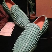 DCCK2 Christian Louboutin Pik Boat (pink and Green)