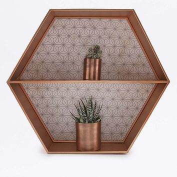 Copper Hexagon Shelf - Urban Outfitters