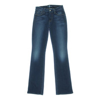 7 For All Mankind Womens Indigo Wash Skinny Fit Bootcut Jeans