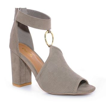 Taupe Gray Alice Heels