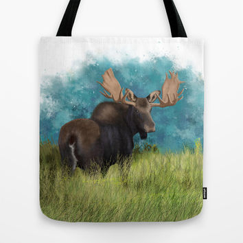 Moose  Tote Bag by North Star Artwork