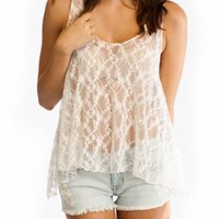 open lace tank $20.20 in WHITE - Sleeveless | GoJane.com