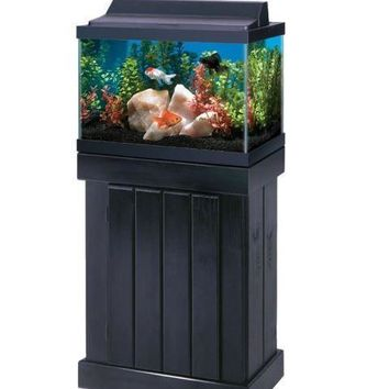 "All Glass Aquarium Cabinet Stand Pine 20"" x 28"""