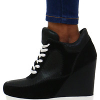 LACE UP SNEAKER WEDGE