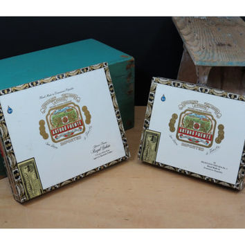 2 Empty Cigar Boxes * Arturo Fuente * Colorful Graphics * Great Storage or Base For Purse or Guitar