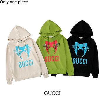GUCCI hot selling pair casual hoodie with fashionable monogram print