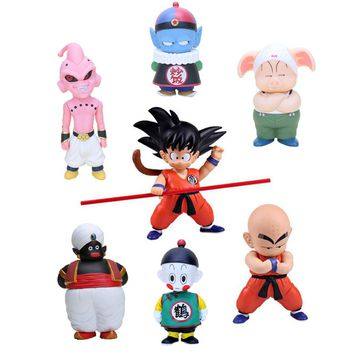 Dragon Ball Z Action Figure Toys 15-21cm Son Goku Krillin Oolong Chiao-tzu Pilaf Buu Mr. Popo Model Dragonball Kids Gift Dolls