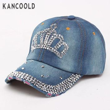 DCCKWJ7 Baseball Cap Men Women Snapback Caps Brand Golf Hats For Women Visor Bone Jeans Denim Blank Gorras Casquette Crown 2017 De28