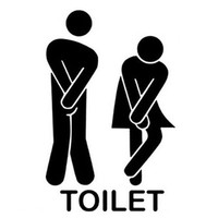 ILH Home wall stickers - Funny Toilet Entrance Sign Sticker for france home restaurant toilette decor free shipping