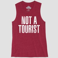 Women's Not a Tourist Graphic Tank Top - Awake Red