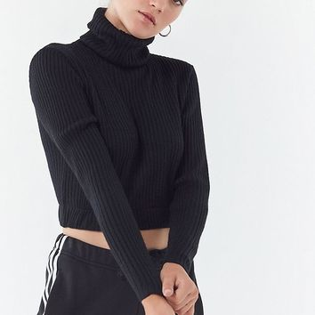 Urban Renewal Recycled Cropped Turtleneck Sweater | Urban Outfitters