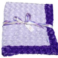 Cozy Faux Purple and Lavender Baby Blanket
