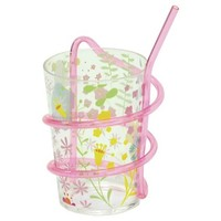 Easter Life Swirly Straw Cup Set of 2-Floral Pink