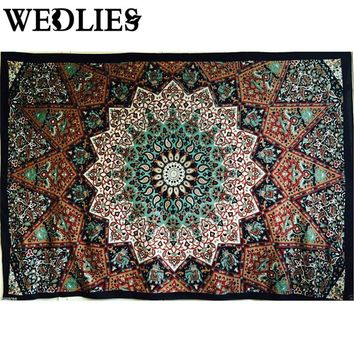 Polyester Wall Hanging Tapestry  210X145cm Indian Mandala Bedsheets Throw Mat Picnic Cloth Home Bedroom Decorative Accessories