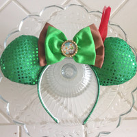 Peter Pan inspired mouse ears headband