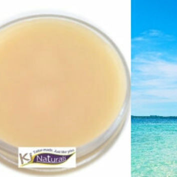 Babassu Hair Balm: Island Escape Scent 100% Natural twisting and moisture sealing balm. Great for coconut allergies