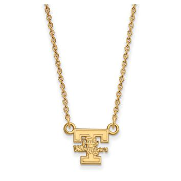 NCAA 10k Yellow Gold U of Tennessee Lady Vols Pendant Necklace