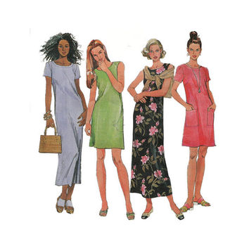 "1980's McCall's 9172 Woman's Shift Dress Size 6-10 || Bust 30 1/2- 32 1/2""/ 80- 83cm 