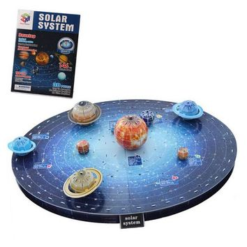 Easy To Assemble Solar System 3D Paper Puzzles Kids Children Educational Toy