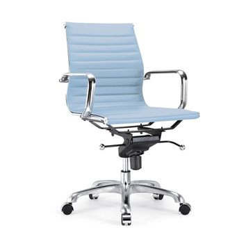 Century Baby Blue Modern Classic Aluminum Office Chair (Set of 2)
