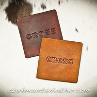 Custom and Personalized Leather Coasters