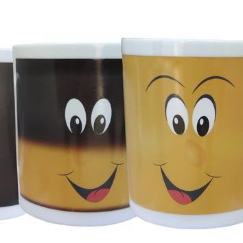 Magic Color Changing Funny Smile Coffee Mug- 11Oz