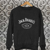 jack daniels sweater Black Sweatshirt Crewneck Men or Women Unisex Size