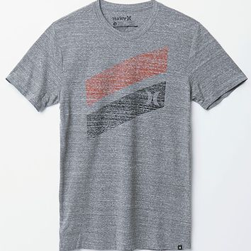 Hurley Icon Slash Push Through Premium T-Shirt - Mens Tee - Grey