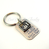 Hand Stamped Keychain-Find your way home- welcome home keychain