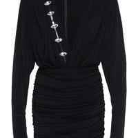 Ruched Embroidered Mini Dress | Moda Operandi