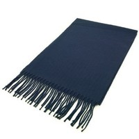 Amazon.com: Classic Premium Unisex Plain Solid Color Winter Fringe Scarf - Different Colors Available, Navy: Clothing