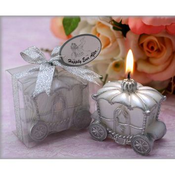 Home Wedding Decoration Candle Favor Elegant Pumpkin Carriage Candle Gift Romantic Wedding Gifts FG