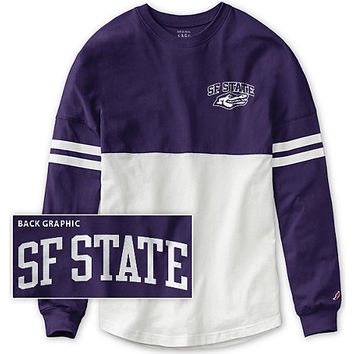 San Francisco State University Women's Color Block RaRa Long Sleeve T-Shirt