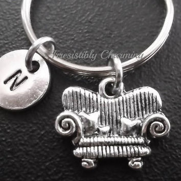 Sale...Small sofa, couch charm keyring, keychain, bag charm, purse charm, monogram personalized custom gifts, item No.636