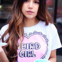 Weird Girl Crop Shirt