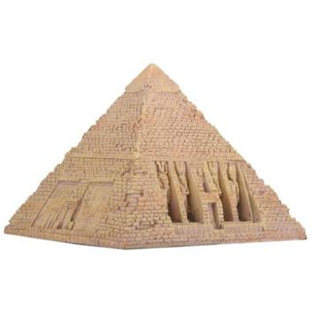 Pyramid of Giza Hinged Treasure Box Wonder of Ancient World Stone Finish 5.5H