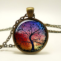 Tree Of Life Necklace, Bronze Pendant, Woodland Jewelry (0630B1IN)