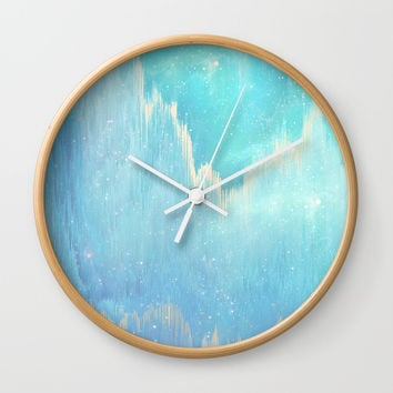 Blue Dreamscape Wall Clock by printapix