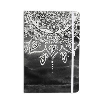 "Li Zamperini ""Black & White Mandala"" Gray Abstract Everything Notebook"