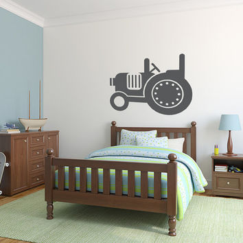 Tractor Wall Decal, Tractor Wall Art, Farm Decor, Farm Decal, Nursery Wall Decal, Tractor Decal, Childrens Wall Art, Apartment Wall Decor