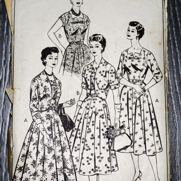 Vintage Style Pattern 1040,Afternoon Dress Pattern,1940s Dress, vintage knitted, 1950s,1960s,women cloths,