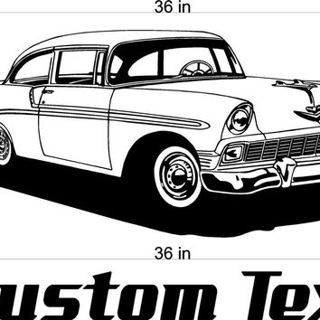 55 Chevy Chevrolet Car Wall Decals Stickers Man Cave Boys Room Decor 3 FEET Wide